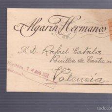 Postales: TARJETA POSTAL DE PUBLICITARIA. ALGARIN HERMANOS. SEVILLA. 1922. Lote 57618396