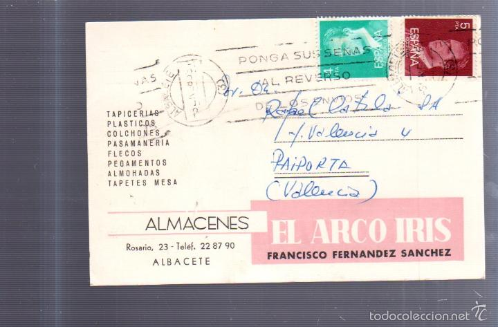 9da25462dfb TARJETA POSTAL DE PUBLICITARIA. ALMACENES EL ARCO IRIS. FRANCISCO FERNANDEZ  SANCHEZ. ALBACETE.