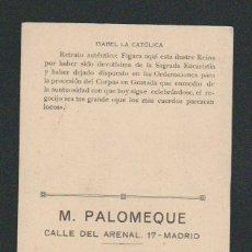 Postales: TARJETA PUBLICITARIA.M.PALOMEQUE.CASA COMERCIAL DE MADRID.. Lote 57658342