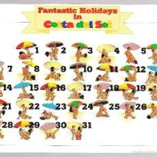 Postales: FANTASTIC HOLIDAYS IN COSTA DEL SOL KAMASUTRA BAJO LA SOMBRILLA. Lote 57906180