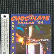 Postales: POSTAL INEDITA DISCOTECA CHOCOLATE FALLAS 94. Lote 58178730