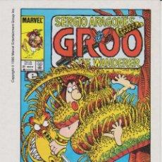 Postales: POSTAL GROO THE WANDERER - SERGIO ARAGONÉS - MARVEL - COMICS FORUM 1990. Lote 60107667