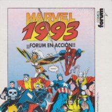 Postales: ARTHUR ADAMS - POSTAL MARVEL 1993 - FORUM EN ACCIÓN - COMICS FORUM 1992 - SPIDERMAN CAPITÁN AMÉRICA. Lote 60108183