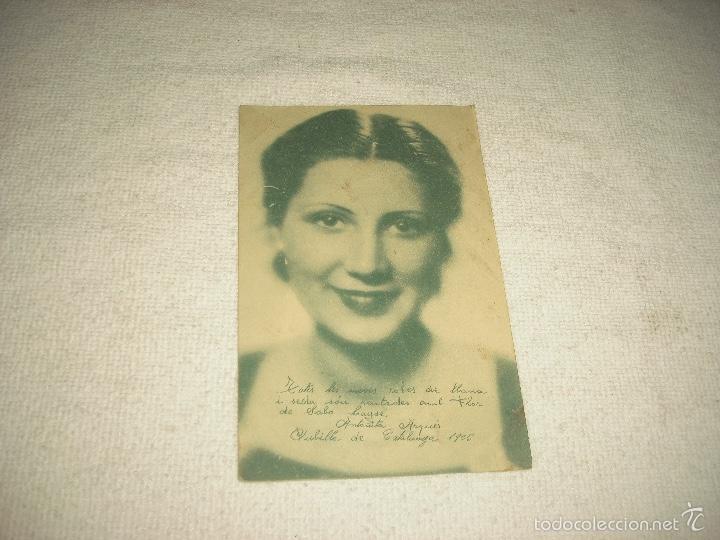ANTOÑITA ARQUES .PUBILLA DE CATALUÑA 1935 . PUBLICIDAD FLOR DEL JABON LAYSE . (Postales - Postales Temáticas - Publicitarias)