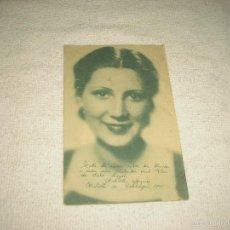 Postales: ANTOÑITA ARQUES .PUBILLA DE CATALUÑA 1935 . PUBLICIDAD FLOR DEL JABON LAYSE .. Lote 60197139