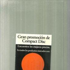 Postales: C1.- POSTAL-GRAN PROMOCION DE COMPACT DISC-TIENDA TOCS DE BARCELONA. Lote 60358879