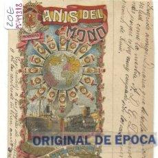 Postales: (PS-49318)POSTAL PUBLICITARIA DE ANIS DEL MONO. Lote 60790615
