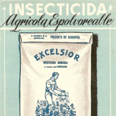 Postales: INSECTICIDA AGRICOLA ESPOLVOREABLE EXCELSIOR. Lote 60870075