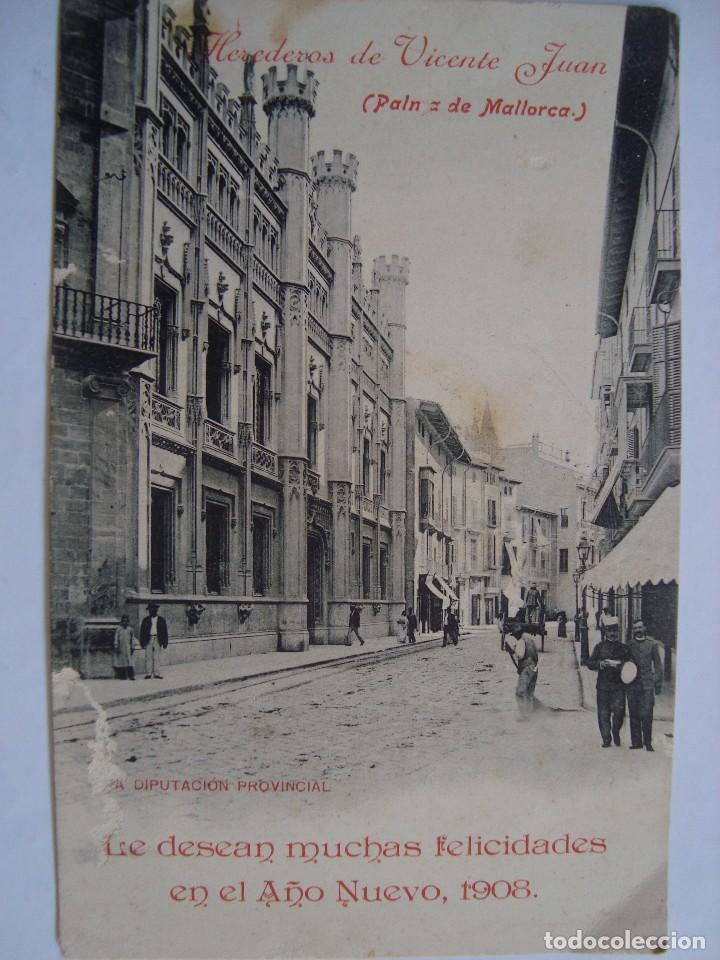 POSTAL PUBLICITARIA. HEREDEROS DE VICENTE JUAN. PALMA DE MALLORCA. 1908. (Postales - Postales Temáticas - Publicitarias)