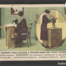 Postales: SINGER - MAQUINA DE COSER - PUBLICIDAD - (44.694). Lote 62076188