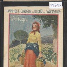 Postales: PORTUGAL - VINOS LICOROSOS - PUBLICIDAD - (44.695). Lote 62076348