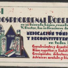 Postales: PHOSPHORENAL ROBERT - MRDICACION TONICA - PUBLICIDAD - (44.697). Lote 62076616