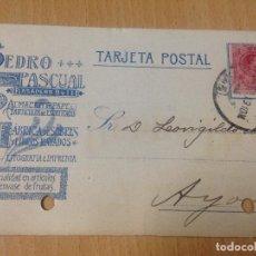 Postales: ANTIGUA TARJETA POSTAL PUBLICIDAD LITOGRAFÍA IMPRENTA VALENCIA 1919. Lote 62079640