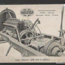 Postales: CHASIS AUTOMOVILES - STOEWER-VOGEL Y MATAS - POSTAL PUBLICITARIA - VER REVERSO - (44.833). Lote 62985088