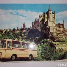 Postales: POSTAL PULLMANTUR, SEGOVIA, VISTA DEL ALCAZAR. AÑO 1968.. Lote 63782371