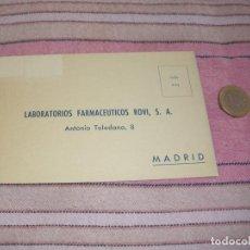Postales: TARJETO POSTAL PUBLICITARIA - LABORATORIOS FARMACEUTICOS RUBI - BARCELONA. Lote 64166115
