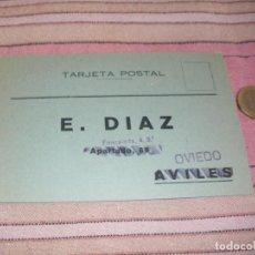 Postales: E. DIAZ - OVIEDO - AVILES - TARJETA POSTAL PUBLICITARIA. Lote 64196035