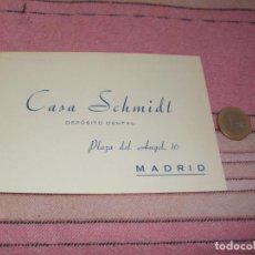 Postales: CASA SCHMIDT - DEPOSITO DENTAL - MADRID - PLAZA DEL ANGEL 16 - TARJETA POSTAL PUBLICITARIA Y PEDIDOS. Lote 64196143