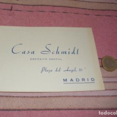 Postales: CASA SCHMIDT - DEPOSITO DENTAL - MADRID - PLAZA DEL ANGEL 16 - TARJETA POSTAL PUBLICITARIA Y PEDIDOS. Lote 64196171