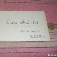 Postales: CASA SCHMIDT - DEPOSITO DENTAL - MADRID - PLAZA DEL ANGEL 16 - TARJETA POSTAL PUBLICITARIA Y PEDIDOS. Lote 64196183