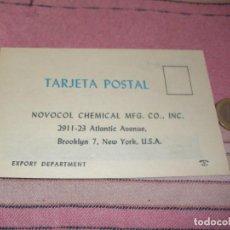 Postales: NOVOCOL CHEMICAL - BROOKLYN - NUEVA YORK - TARJETA POSTAL PUBLICITARIA. Lote 64196307
