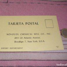 Postales: NOVOCOL CHEMICAL - BROOKLYN - NUEVA YORK - TARJETA POSTAL PUBLICITARIA. Lote 64196343