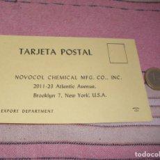 Postales: NOVOCOL CHEMICAL - BROOKLYN - NUEVA YORK - TARJETA PUBLICITARIA. Lote 64196371