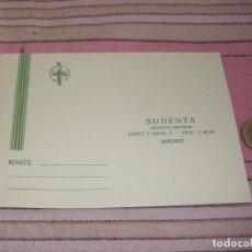 Postales: SUDENTA. DEPOSITOS DENTALES - MADRID - TARJETA POSTAL PUBLICITARIA. Lote 64196671
