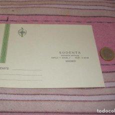 Postales: SUDENTA. DEPOSITOS DENTALES - MADRID - TARJETA POSTAL PUBLICITARIA. Lote 64196691