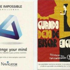 Postales: DOS TARJETAS PUBLICITARIAS DE *NAVIGATOR Y NOBEL*. Lote 64431335