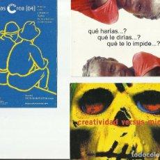 Postales: TRES TARJETAS PUBLICITARIAS DIVERSOS TEMAS.. Lote 64431891