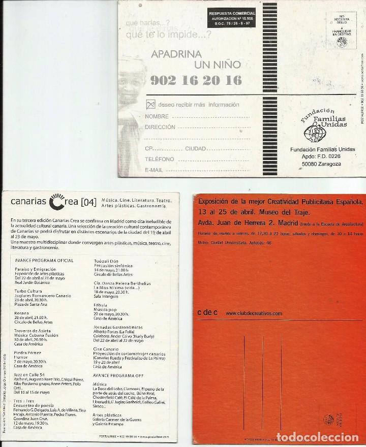 Postales: TRES TARJETAS PUBLICITARIAS DIVERSOS TEMAS. - Foto 2 - 64431891