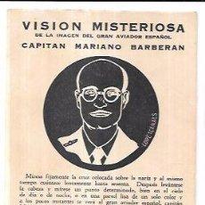 Postales: TARJETA POSTAL PUBLICITARIA. CIGARROS TRINIDAD Y HNO. CAPITÁN MARIANO BARBERAN.. Lote 65449490