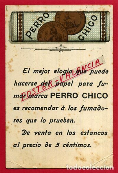 POSTAL PUBLICITARIA, PUBLICIDAD PAPEL DE FUMAR PERRO CHICO , ORIGINAL, P84500E (Postales - Postales Temáticas - Publicitarias)