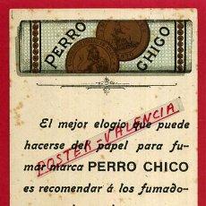 Postales: POSTAL PUBLICITARIA, PUBLICIDAD PAPEL DE FUMAR PERRO CHICO , ORIGINAL, P84500E. Lote 65777310