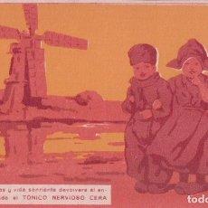 Postales: POSTAL PUBLICIDAD TONICO NERVIOSO CERA , ILUSTRADA , FARMACIA. Lote 66459538