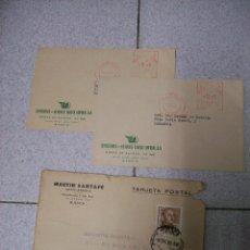 Postales: LOTE 3 POSTALES PUBLICITARIAS. AÑOS 50. Lote 69239173