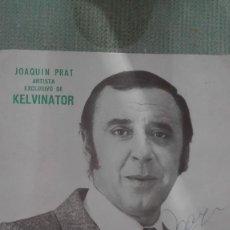 Postales: ANTIGUA FOTOGRAFIA JOAQUIN PRAT ARTISTA EXCLUSIVO DE KELVINATOR - FIRMADA Y NUMERADA. Lote 70153489