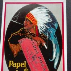 Postales: PAPEL DE FUMAR INDIO ROSA. Lote 71075562