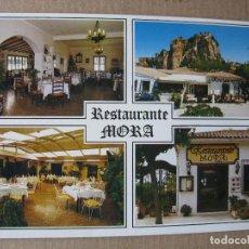 Postales: POSTAL RESTAURANTE MORA. GUADALEST (ALICANTE).. Lote 71970375