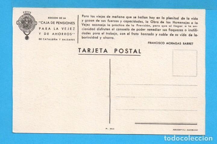 Postales: Ocho postales de Publicidad de caja de pensiones para la vejez y ahorros de cataluña y baleares - Foto 5 - 72771667