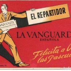 Postales: PUBLICIDAD ORIGINAL LA VANGUARDIA-NAVIDAD 1950-MUY RARA. Lote 73790827