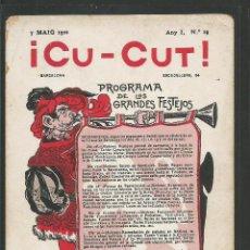 Postales: POSTAL ANTIGUA PUBLICIDAD- REVISTA - CU CUT -VER REVERSO - (46.185). Lote 74484663