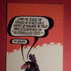 Postales: LOTERIA NACIONAL -.POSTAL SERIE G.- Nº 7 - FORGES - DIBUJOS HUMORÍSTICOS - AÑO 1974. Lote 75702811