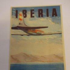 Postales: IBERIA. LINEAS AÉREAS ESPAÑOLAS. ANTIGUA POSTAL PUBLICITARIA. SIN CIRCULAR. Lote 75703699