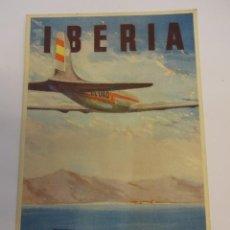 Postales: IBERIA. LINEAS AÉREAS ESPAÑOLAS. ANTIGUA POSTAL PUBLICITARIA. SIN CIRCULAR. Lote 75703723