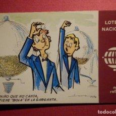 Postales: LOTERIA NACIONAL - POSTAL SERIE K - Nº 4 - E. DE LARA - NUEVOS REFRANES - AÑO 1979. Lote 75704227