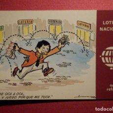 Postales: LOTERIA NACIONAL - POSTAL SERIE K - Nº 9 - E. DE LARA - NUEVOS REFRANES - AÑO 1979. Lote 75704335