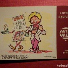 Postales: LOTERIA NACIONAL - POSTAL SERIE K - Nº 10 - E. DE LARA - NUEVOS REFRANES - AÑO 1979. Lote 75704539
