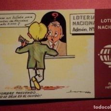 Postales: LOTERIA NACIONAL - POSTAL SERIE K - Nº 2 - E. DE LARA - NUEVOS REFRANES - AÑO 1979. Lote 75704767